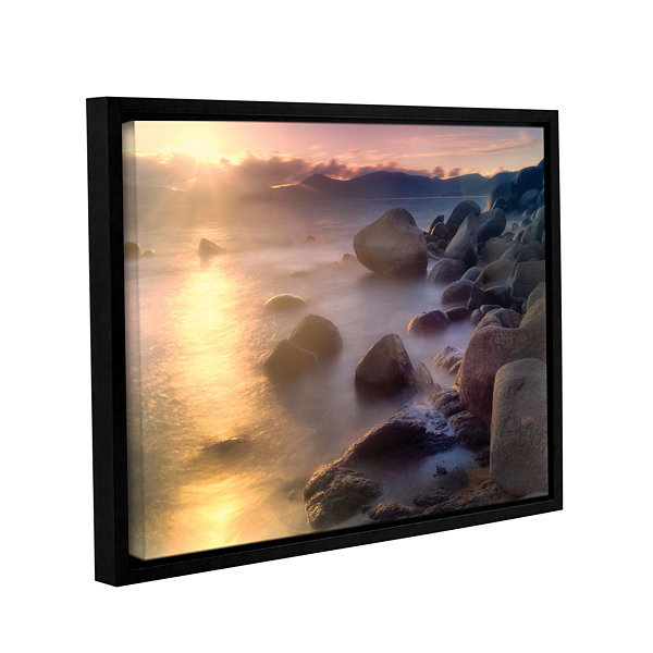 Brushstone Rocks And Water Gallery Wrapped Floater-Framed Canvas