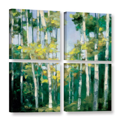 Brushstone Cripple Creek 4-pc. Square Gallery Wrapped Canvas Wall Art