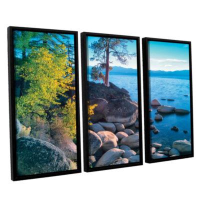 Brushstone Rocky Coastline 3-pc. Floater Framed Canvas Set