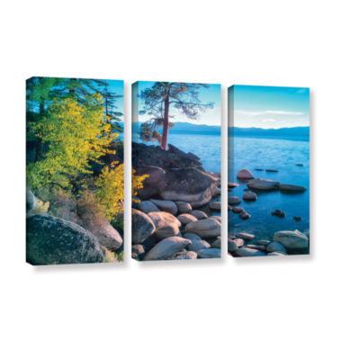 Brushstone Rocky Coastline 3-pc. Gallery Wrapped Canvas Set