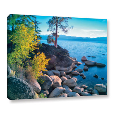 Brushstone Rocky Coastline Gallery Wrapped Canvas