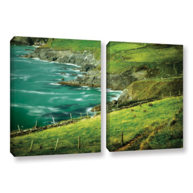 Brushstone Sea Green 2-pc. Gallery Wrapped CanvasSet
