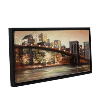 Brushstone NYC After Hours Gallery Wrapped Floater-Framed Canvas Wall Art