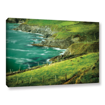 Brushstone Sea Green Gallery Wrapped Canvas