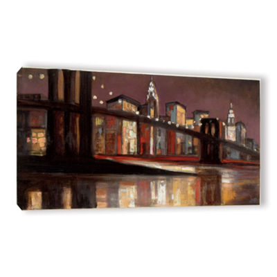 Brushstone NYC Nighttime Gallery Wrapped Canvas Wall Art