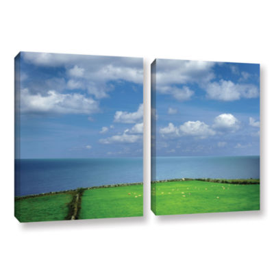 Brushstone Sheep Herd 2-pc. Gallery Wrapped CanvasSet