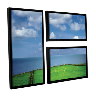 Brushstone Sheep Herd 3-pc. Floater Framed CanvasFlag Set