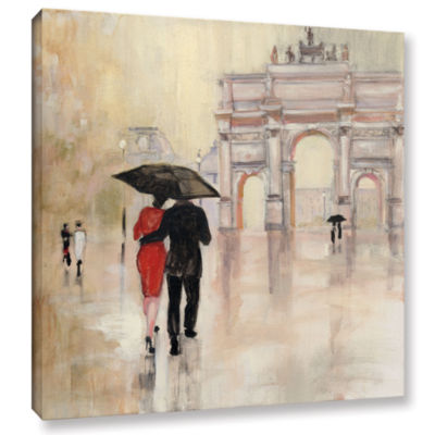 Brushstone Romanitc Paris II Gallery Wrapped Canvas Wall Art