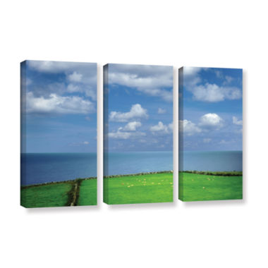 Brushstone Sheep Herd 3-pc. Gallery Wrapped CanvasSet