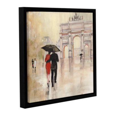Brushstone Romanitc Paris II Gallery Wrapped Floater-Framed Canvas Wall Art