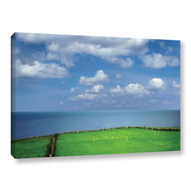 Brushstone Sheep Herd Gallery Wrapped Canvas