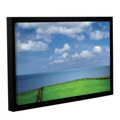 Brushstone Sheep Herd Gallery Wrapped Floater-Framed Canvas