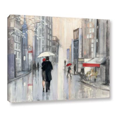 Brushstone Spring Rain New York Gallery Wrapped Canvas Wall Art
