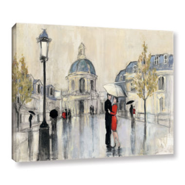 Brushstone Spring Rain Paris Gallery Wrapped Canvas Wall Art