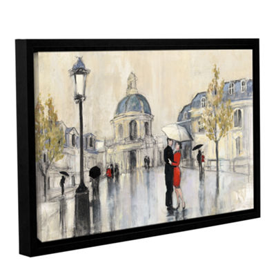 Brushstone Spring Rain Paris Gallery Wrapped Floater-Framed Canvas Wall Art