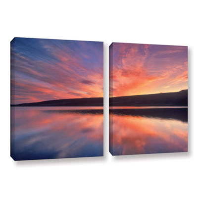 Brushstone Sunset Splendor 2-pc. Gallery Wrapped Canvas Wall Art