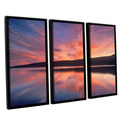 Brushstone Sunset Splendor 3-pc. Floater Framed Canvas Set