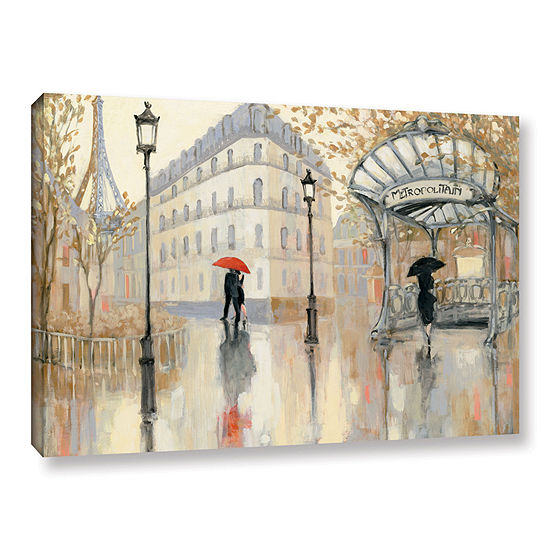 Brushstone To The Metro Gallery Wrapped Canvas Wall Art