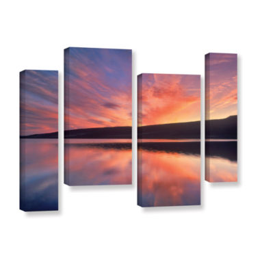 Brushstone Sunset Splendor 4-pc. Gallery Wrapped Canvas Staggered Set