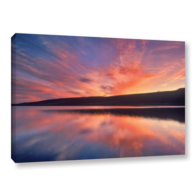 Brushstone Sunset Splendor Gallery Wrapped CanvasWall Art