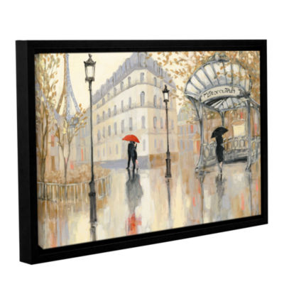 Brushstone To The Metro Gallery Wrapped Floater-Framed Canvas Wall Art