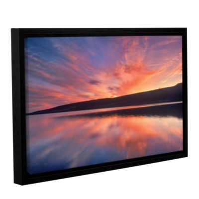 Brushstone Sunset Splendor Gallery Wrapped Floater-Framed Canvas