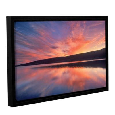 Brushstone Sunset Splendor Gallery Wrapped Floater-Framed Canvas