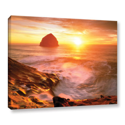 Brushstone Tide Rolls In Gallery Wrapped Canvas