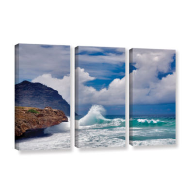 Brushstone Wave Hello 3-pc. Gallery Wrapped CanvasSet