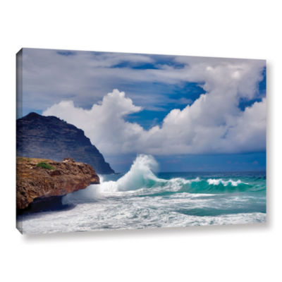 Brushstone Wave Hello Gallery Wrapped Canvas