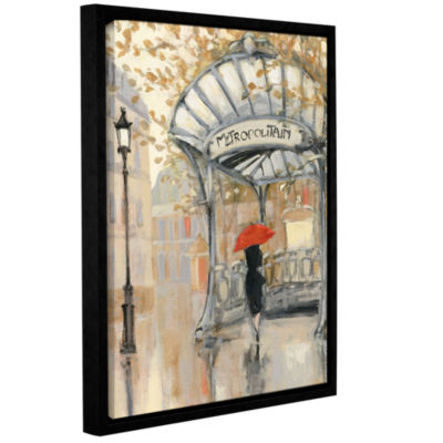 Brushstone To The Metro III Gallery Wrapped Floater-Framed Canvas Wall Art