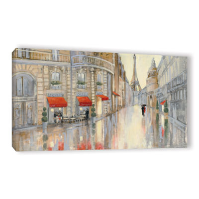 Brushstone Touring Paris Couple Gallery Wrapped Canvas Wall Art