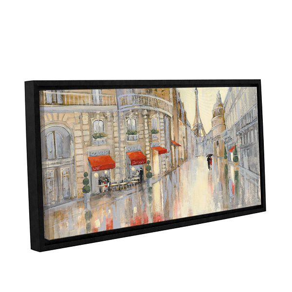 Brushstone Touring Paris Couple Gallery Wrapped Floater-Framed Canvas Wall Art