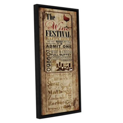 Brushstone Wine Festival Gallery Wrapped Floater-Framed Canvas