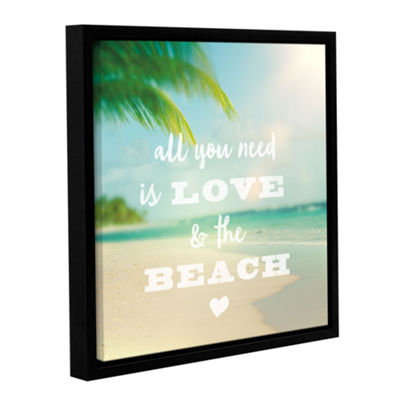 Brushstone All you need is Beach Gallery Wrapped Floater-Framed Canvas Wall Art