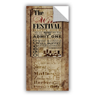Brushstone Wine Festival Removable Wall Decal