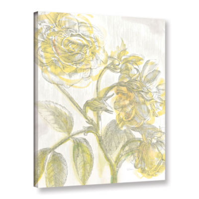 Brushstone Belle Fleur Yellow I Crop Gallery Wrapped Canvas Wall Art