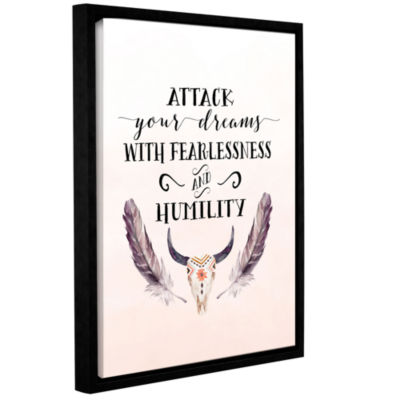 Brushstone Attack Your Dreams Gallery Wrapped Floater-Framed Canvas