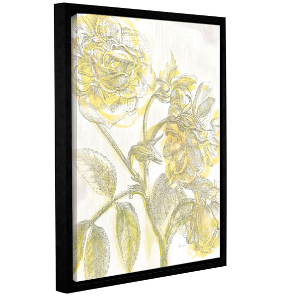 Brushstone Belle Fleur Yellow I Crop Gallery Wrapped Floater-Framed Canvas Wall Art