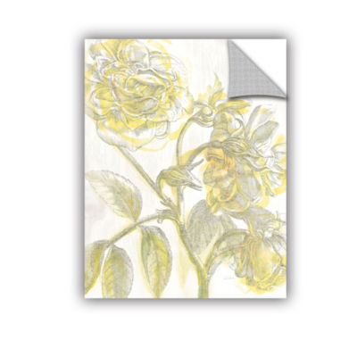 Brushstone Belle Fleur Yellow I Crop Removable Wall Decal