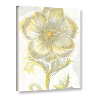 Brushstone Belle Fleur Yellow II Crop Gallery Wrapped Canvas Wall Art