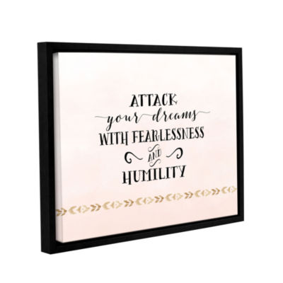 Brushstone Attack Your Dreams Version 2 Gallery Wrapped Floater-Framed Canvas
