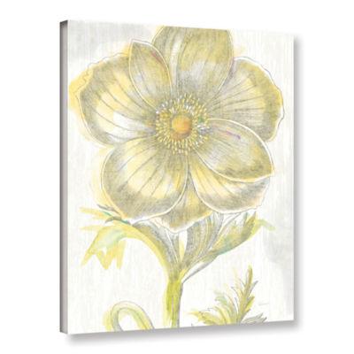 Brushstone Belle Fleur Yellow II Crop Gallery Wrapped Canvas Wall Art