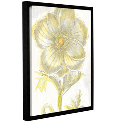 Brushstone Belle Fleur Yellow II Crop Gallery Wrapped Floater-Framed Canvas Wall Art