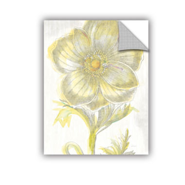Brushstone Belle Fleur Yellow II Crop Removable Wall Decal