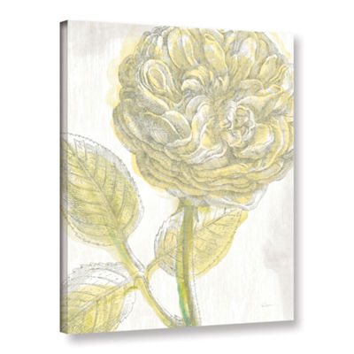 Brushstone Belle Fleur Yellow III Crop Gallery Wrapped Canvas Wall Art