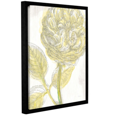 Brushstone Belle Fleur Yellow III Crop Gallery Wrapped Floater-Framed Canvas Wall Art