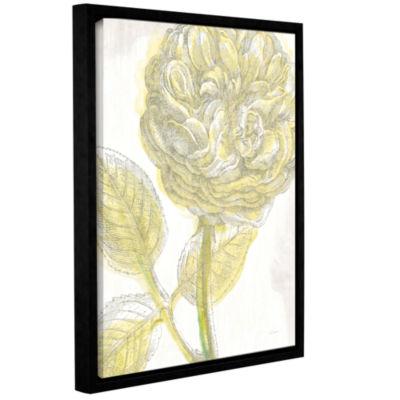 Brushstone Belle Fleur Yellow III Crop Gallery Wrapped Floater-Framed Canvas Wall Art
