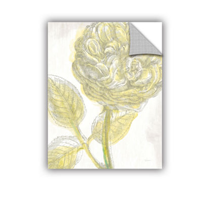 Brushstone Belle Fleur Yellow III Crop Removable Wall Decal