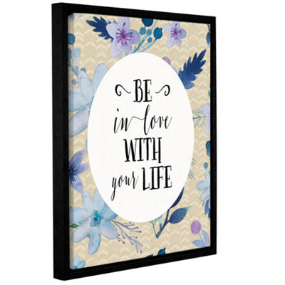 Brushstone Be In Love Gallery Wrapped Floater-Framed Canvas